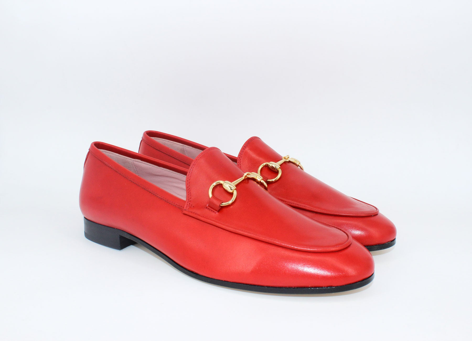 MILAN RED / LEATHER SOLE