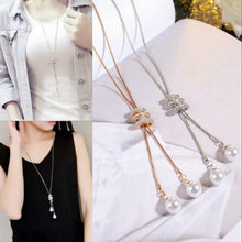 Rhinestone Long Chain Necklace
