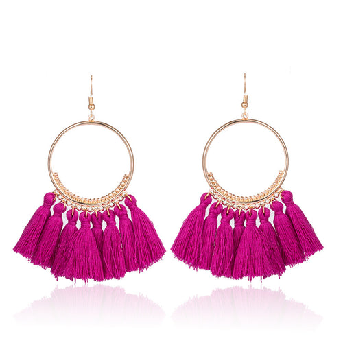 Fashion Bohemian Ethnic Fringed Tassel Earrings