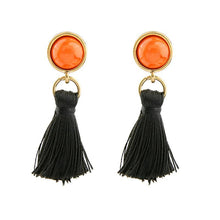 Boho Stone Long Tassel Earrings