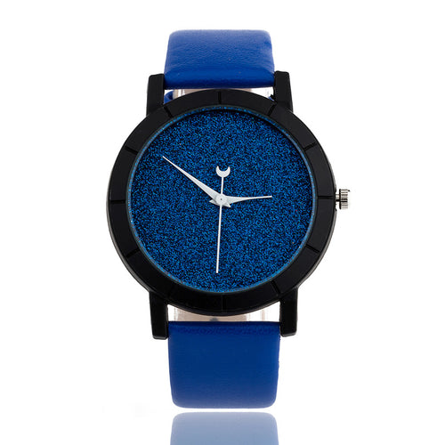 Moon and Stars Design Analog Watch