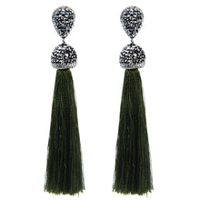 12 Colors Long Tassel Earrings