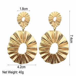 Zinc Alloy Dangle Earrings