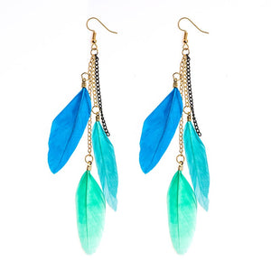 Feather Style Dangle Earring