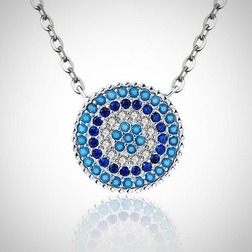 925 Sterling Silver Lucky Blue Eyes Necklaces