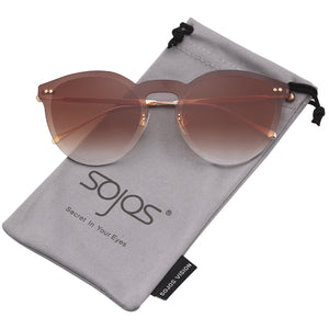 Rimless Round Metal Frame Sunglasses