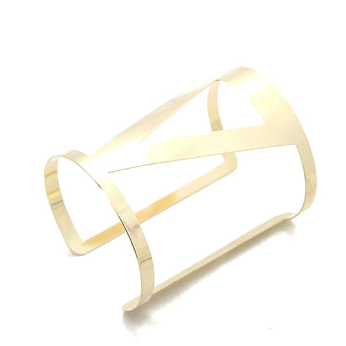Geometric Cuff Gold Bangle