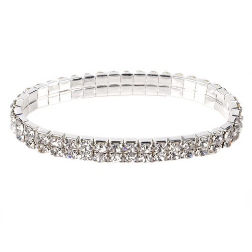 Two Row Crystal Bracelet