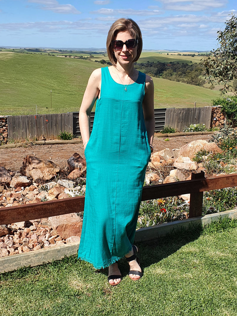 Lillian Maxi Dress - Aqua