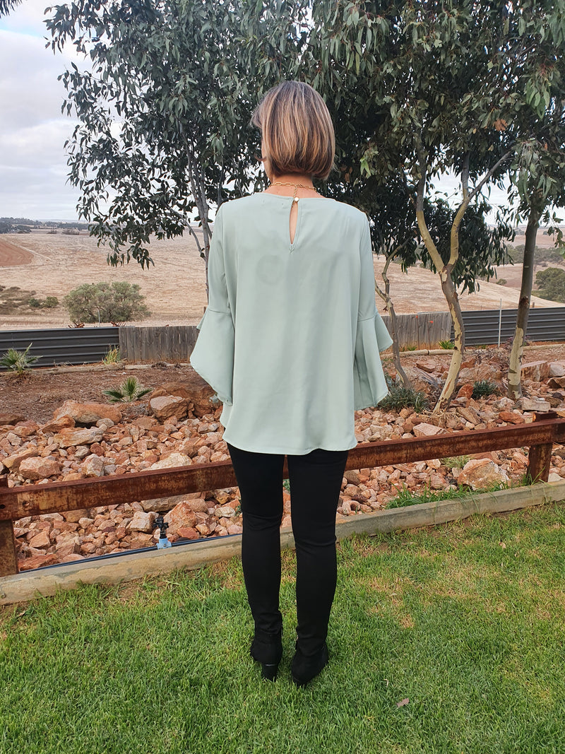 Lucy Bell Sleeve Sage