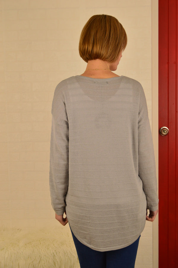 Josie Grey Knit Top