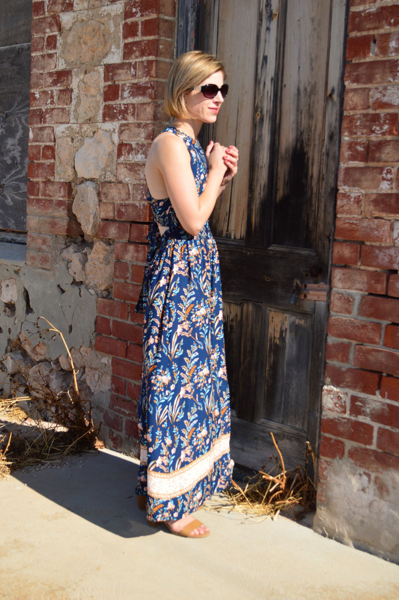 Haisley Maxi Dress - Navy