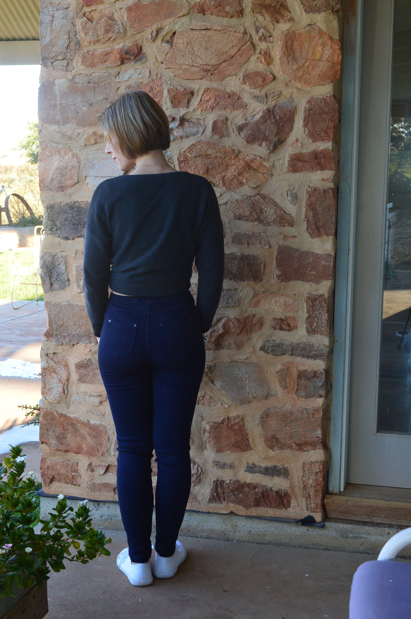 Stretch Denim Jegging Navy