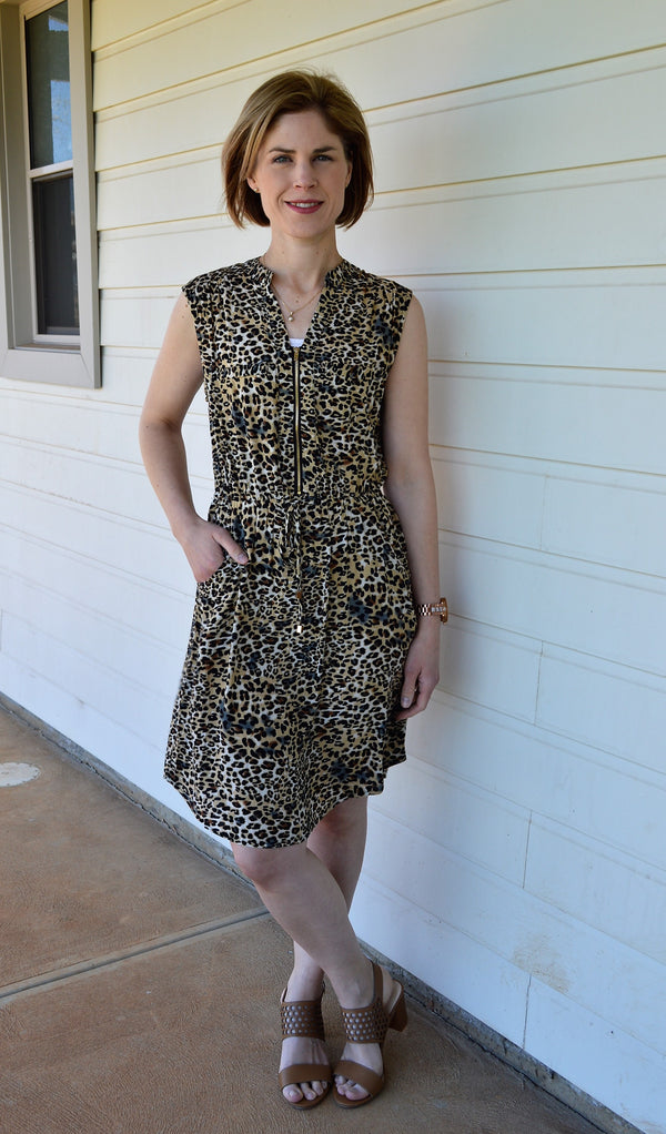 Lisa Leopard Print Dress