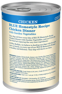 Blue Buffalo Homestyle Recipe Chicken Dinner with Garden Vegetables & Brown Rice Canned Dog Food