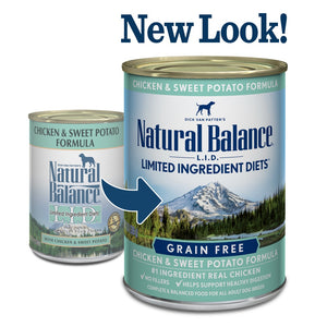 Natural Balance L.I.D. Limited Ingredient Diets Chicken and Sweet Potato Formula Canned Dog Food