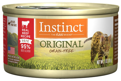 Nature's Variety Instinct Grain-Free Beef Formula Canned Cat Food