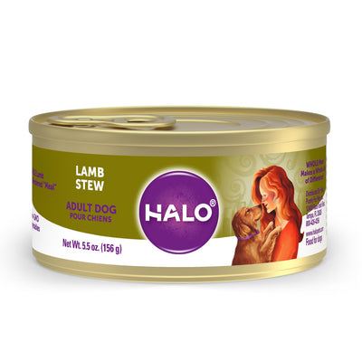 Halo Holistic Adult Lamb Stew Canned Dog Food