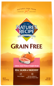Nature's Recipe Grain-Free Salmon, Sweet Potato & Pumpkin Recipe Dry Dog Food