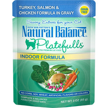 Natural Balance Platefulls Indoor Grain Free Turkey Salmon and Chicken in Gravy Pouch Wet Cat Food