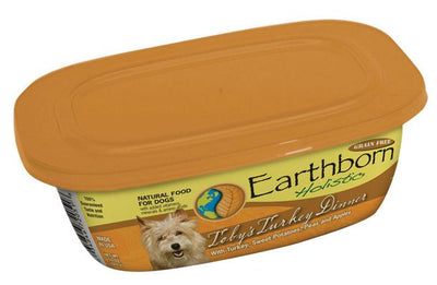 Earthborn Holistic Toby's Turkey Dinner Gourmet Dinners Grain Free Moist Dog Food Tubs