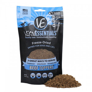 Vital Essentials Freeze Dried Beef Toppers for Cats and Dogs Food