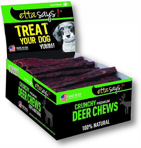 Etta Says Crunchy Deer Chew Dog Treats