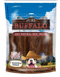 Pure Buffalo Backstrap Tendon Dog Treats