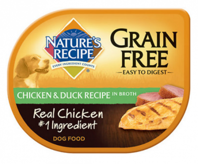 Nature's Recipe Grain Free Easy to Digest Chicken and Duck Recipe in Broth Wet Dog Food
