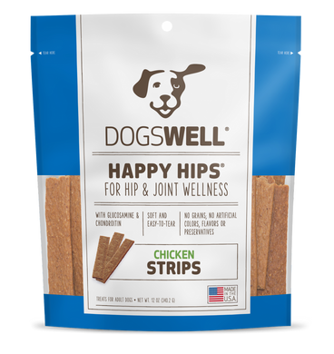 HAPPY HIPS Chicken Strips Dog Treats