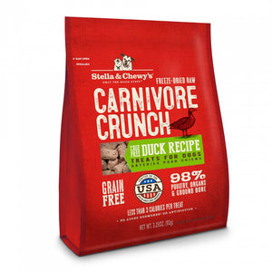 Stella & Chewy's Carnivore Crunch Grain Free Duck Recipe Freeze Dried Raw Dog Treats