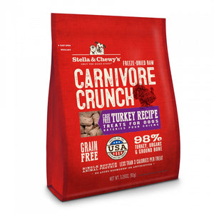 Stella & Chewy's Carnivore Crunch Grain Free Turkey Recipe Freeze Dried Raw Dog Treats