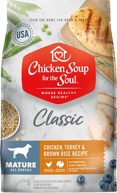 Chicken Soup For The Soul Mature Recipe with Chicken, Turkey & Brown Rice Dry Dog Food