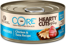 Wellness CORE Natural Grain Free Hearty Cuts Chicken and Tuna Canned Cat Food