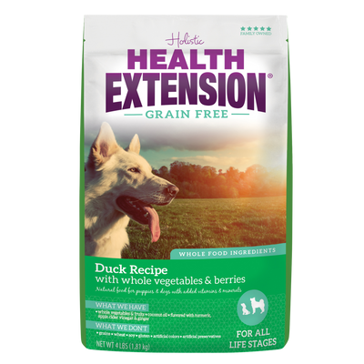 Health Extension Grain Free Duck Recipe Dry Dog Food
