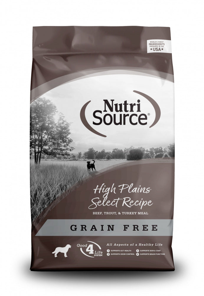 NutriSource Grain Free High Plains Dry Dog Food