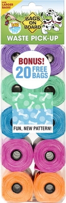 Bags on Board Fashion Print Waste Bags