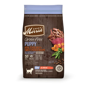 Merrick Grain Free Real Texas Beef & Sweet Potato Puppy Recipe Dry Dog Food