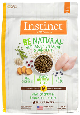 Instinct Be Natural Chicken & Brown Rice Recipe Dry Dog Food