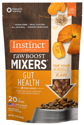 Nature's Variety Instinct Grain Free Freeze Dried Raw Boost Mixers Gut Health Recipe Dog Food Topper