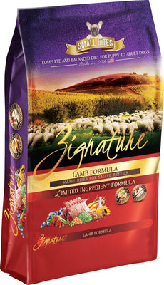 Zignature Small Bites Grain Free Lamb Formula Dry Dog Food