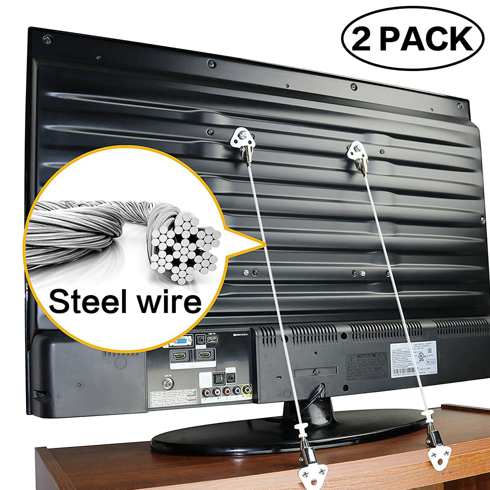 Anti-Tip Straps for Flat TV and Furniture / Baby Safety