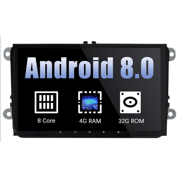 Eunavi 2 din 9'' Android 8.0 Octa Core GPS for VW