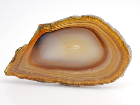 agate brut orange jaune