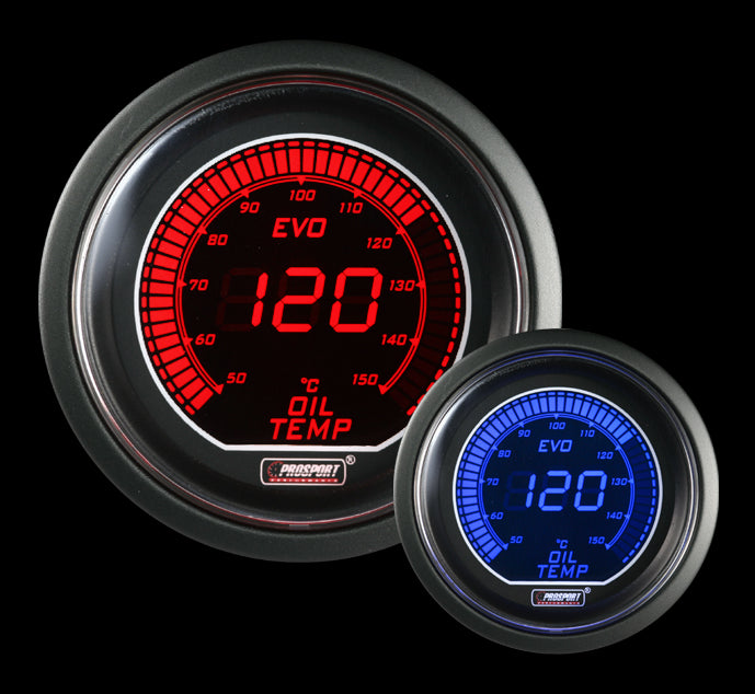 EVO Series Oil Temp Gauge - Celsius
