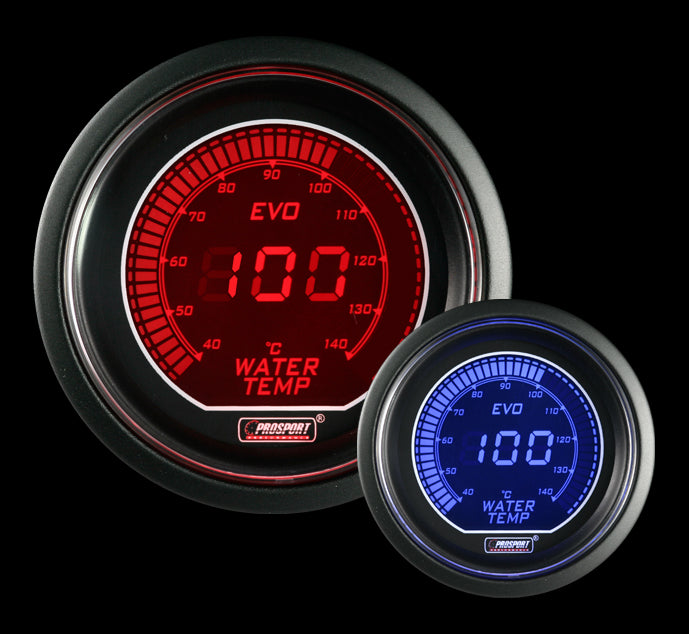 EVO Series Water Temp Gauge - Celsius