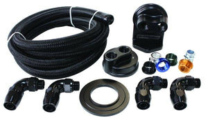 Single Billet Oil Filter Remote Mount Kit