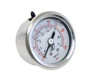 FPR Gauge 0-100psi – Liquid Filled