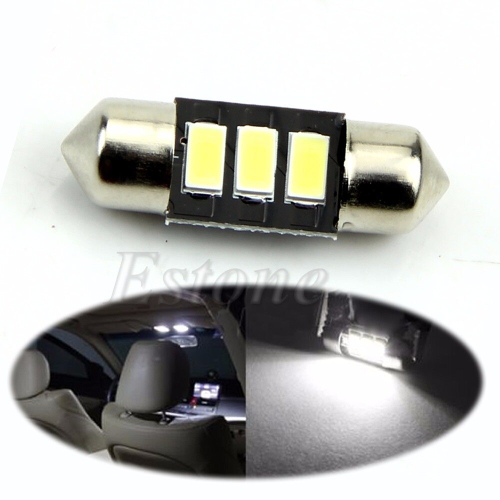 1Pc 31mm 5730 SMD LED C5W DE3021 DE3175 CANBUS Error Free Bulb Interior Dome Light
