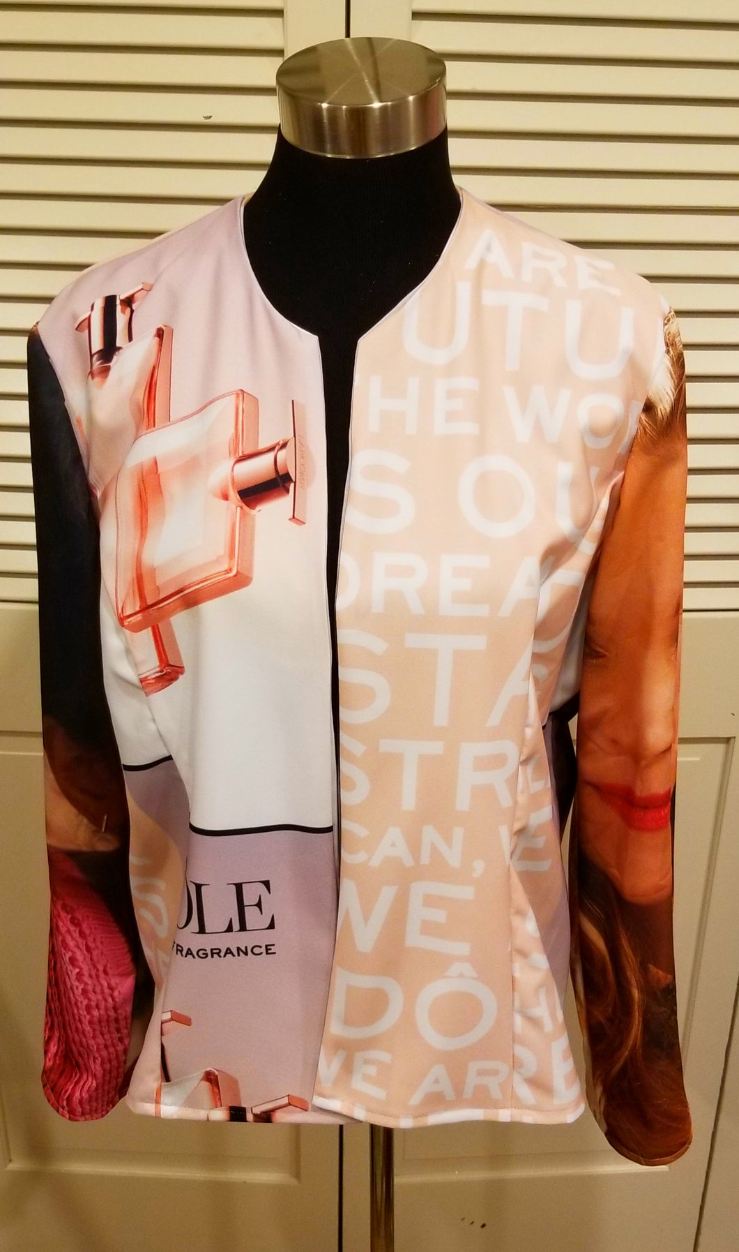 Multi color one of a kind abstract jacket